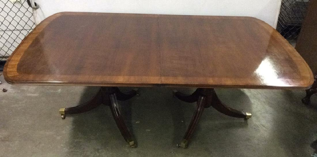 WHITE FURNITURE CO. Double Pedestal Dining Table