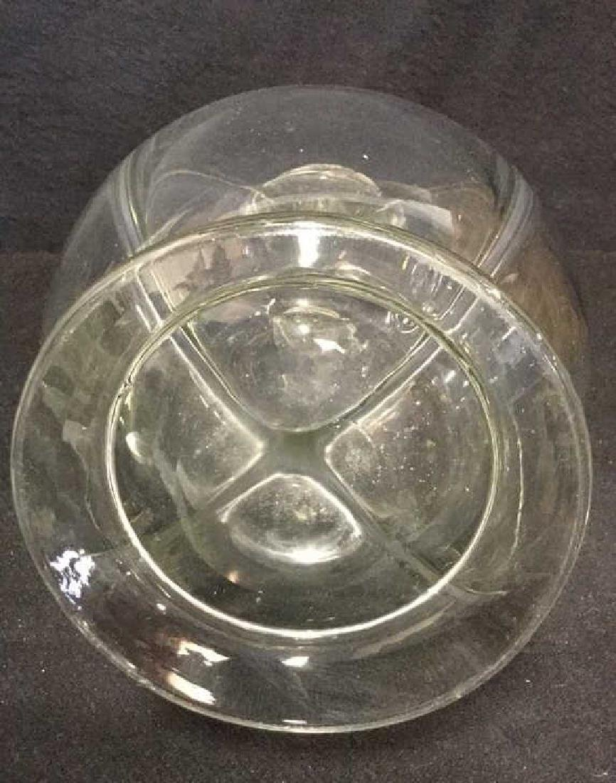 Vintage Sterling And Glass Four Camber Decanter - 7