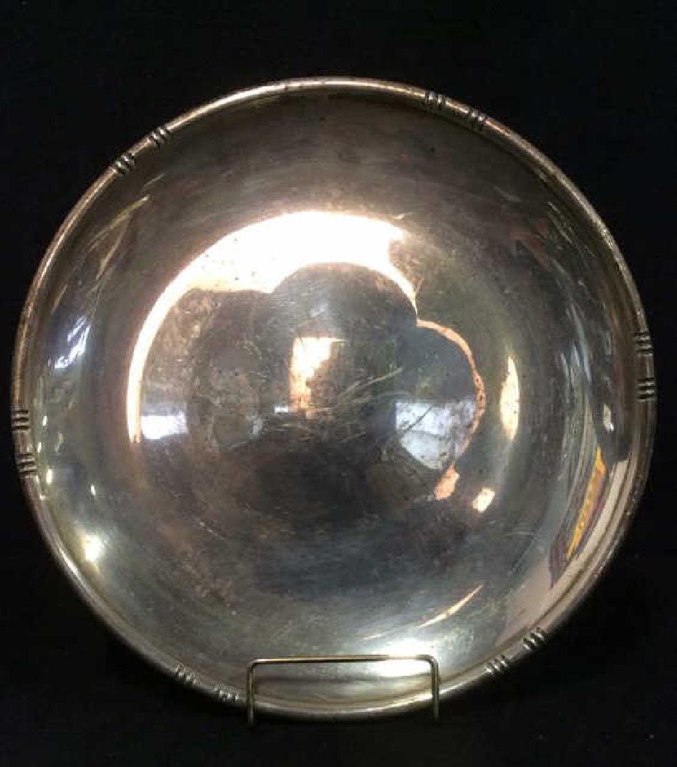 Round Sterling Silver Plate Serving Platter - 3