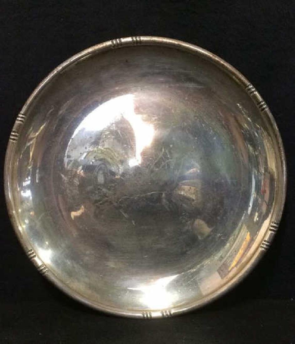 Round Sterling Silver Plate Serving Platter - 4