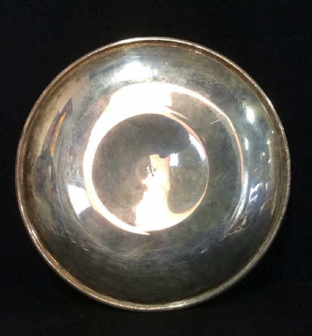 Round Sterling Silver Plate Serving Platter - 5