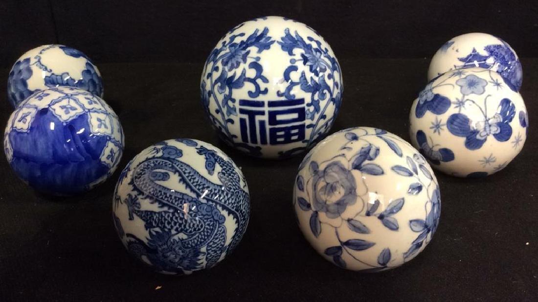 Lot 7 Oriental Style Porcelain Spheres