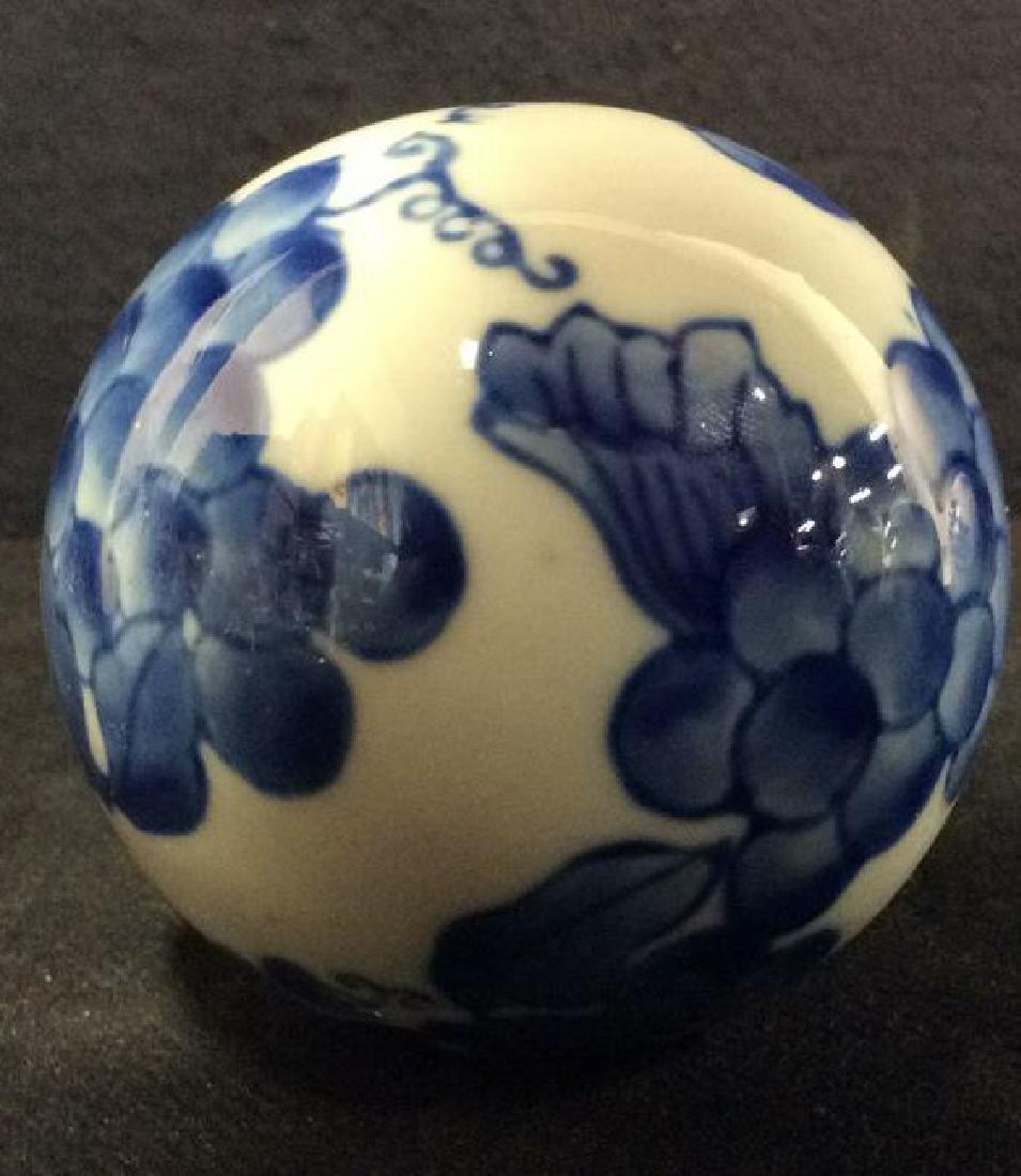 Lot 7 Oriental Style Porcelain Spheres - 3