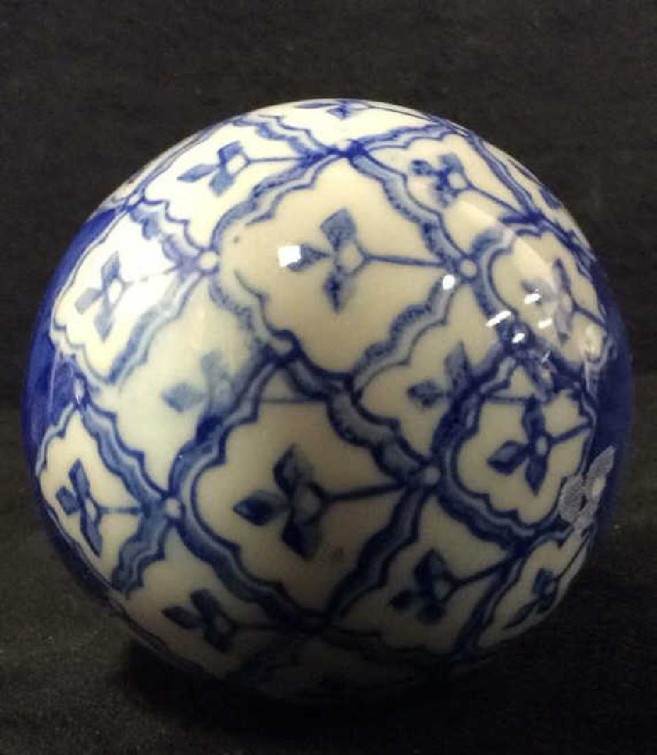 Lot 7 Oriental Style Porcelain Spheres - 4