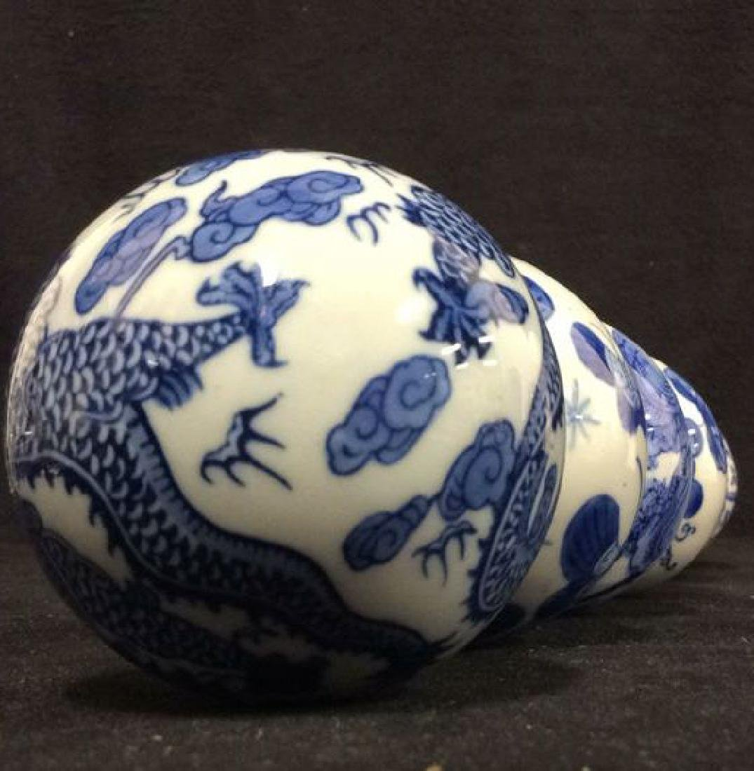 Lot 7 Oriental Style Porcelain Spheres - 9