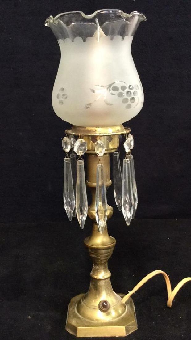 Vintage Mantle Lustres Electric Lamps - 2