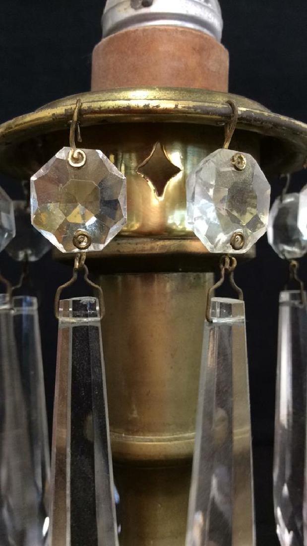 Vintage Mantle Lustres Electric Lamps - 8