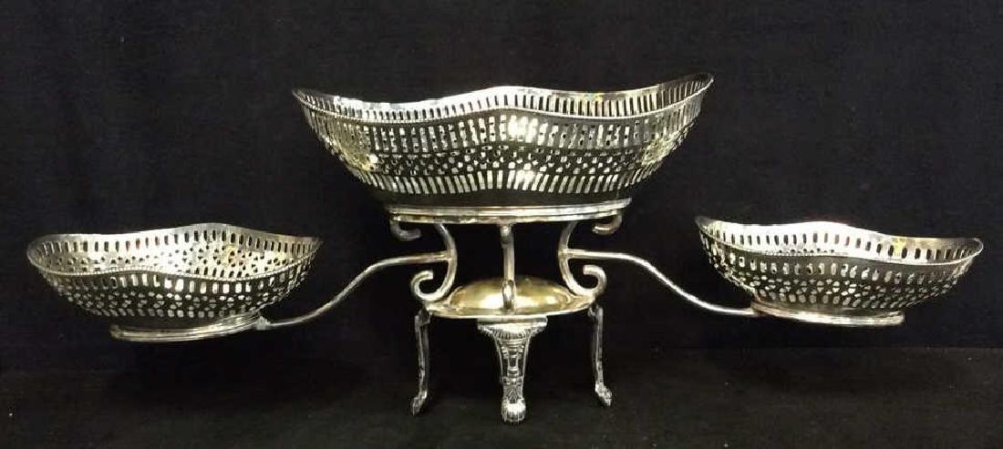Vintage Silver Plate Epergne Centerpiece