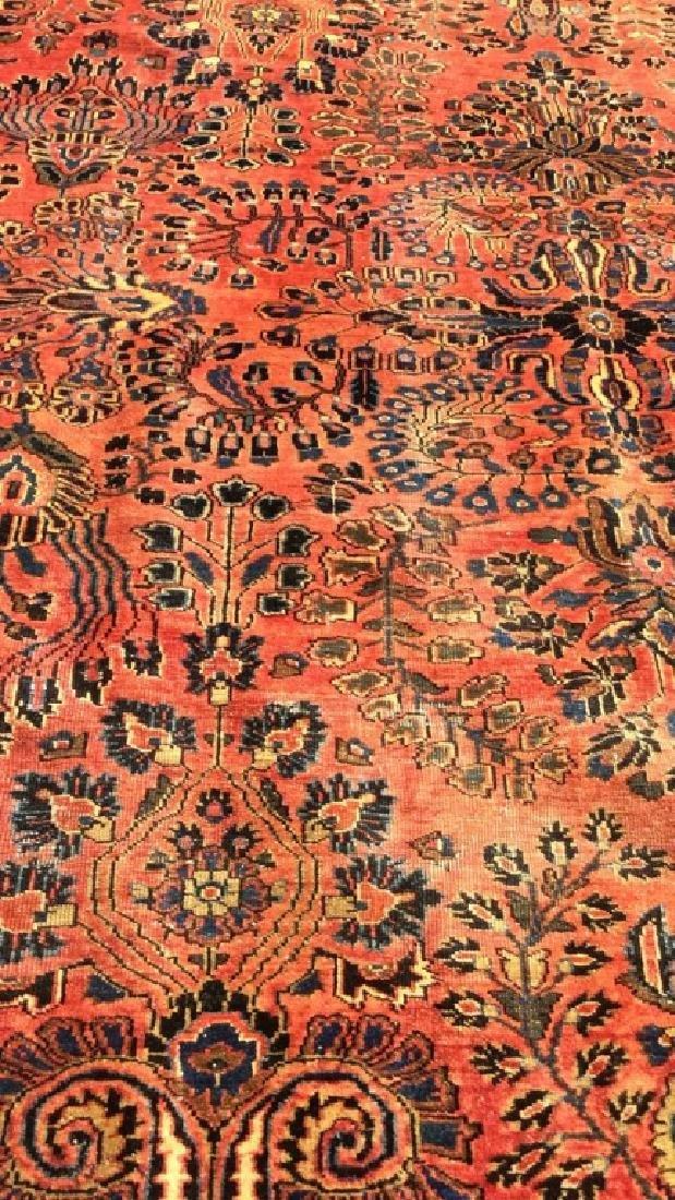 Handmade Vintage SAROUK Wool Rug C 1920's - 10