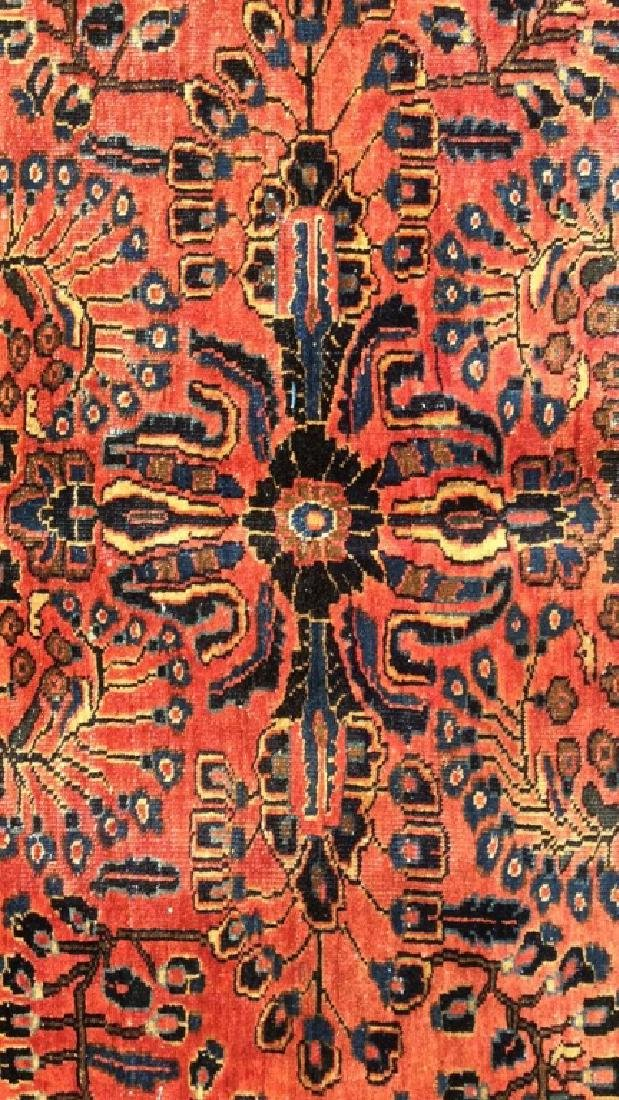 Handmade Vintage SAROUK Wool Rug C 1920's - 2