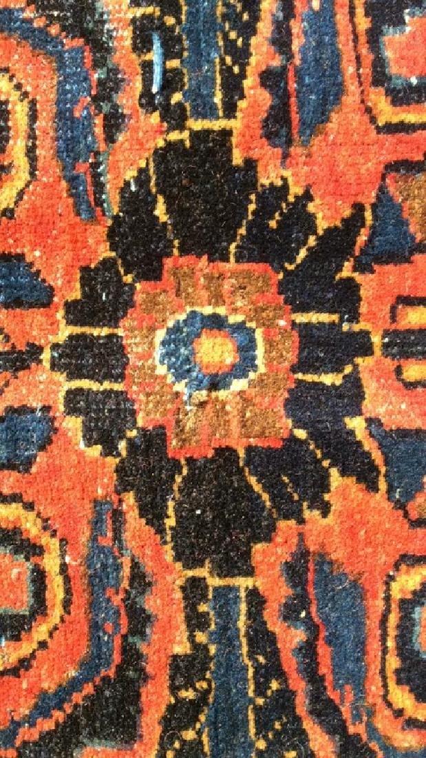 Handmade Vintage SAROUK Wool Rug C 1920's - 3