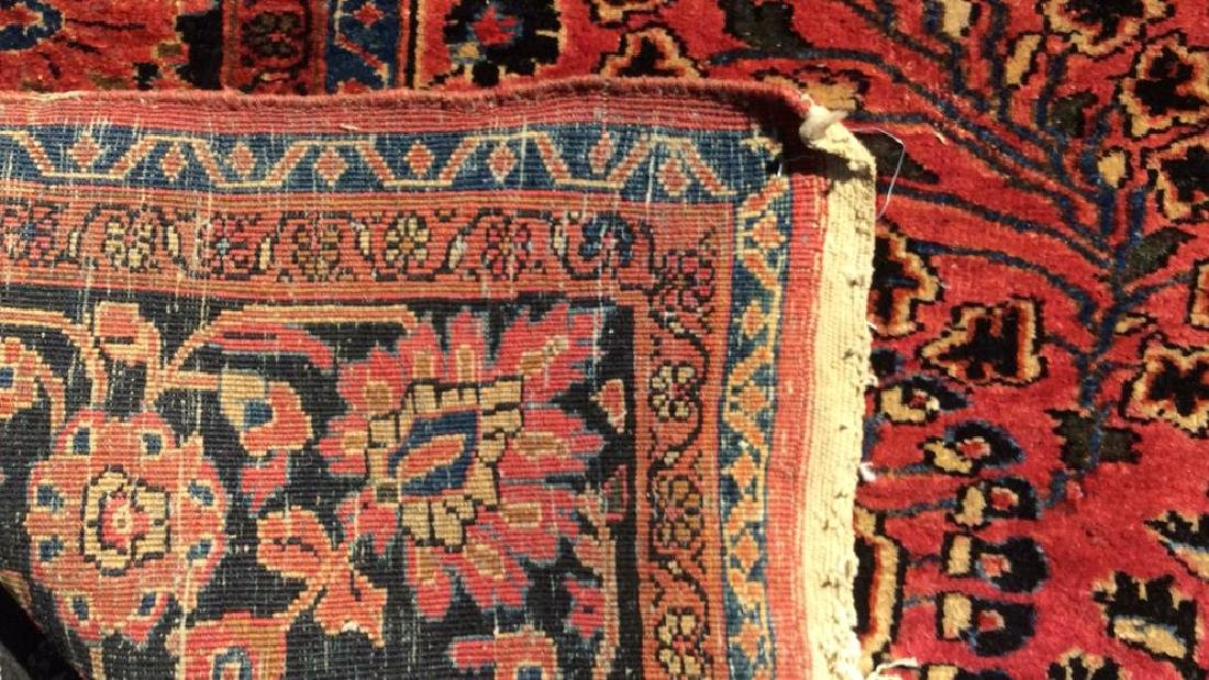 Handmade Vintage SAROUK Wool Rug C 1920's - 5