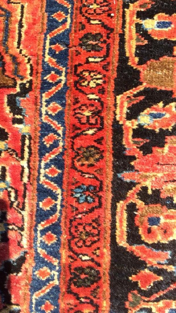 Handmade Vintage SAROUK Wool Rug C 1920's - 8