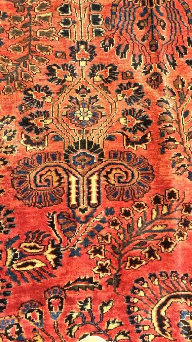 Handmade Vintage SAROUK Wool Rug C 1920's - 9