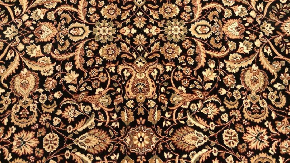 Intricately Detailed Floral Motif Wool Rug
