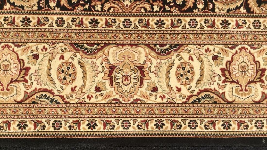 Intricately Detailed Floral Motif Wool Rug - 3