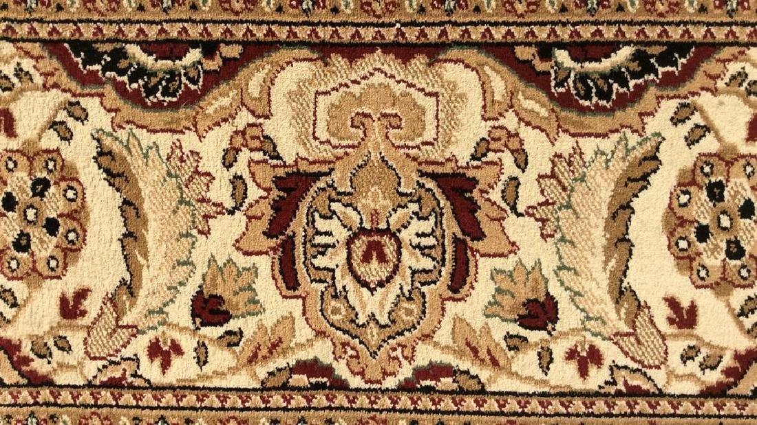 Intricately Detailed Floral Motif Wool Rug - 4