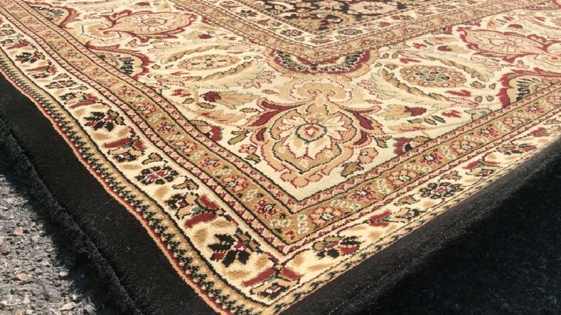 Intricately Detailed Floral Motif Wool Rug - 5