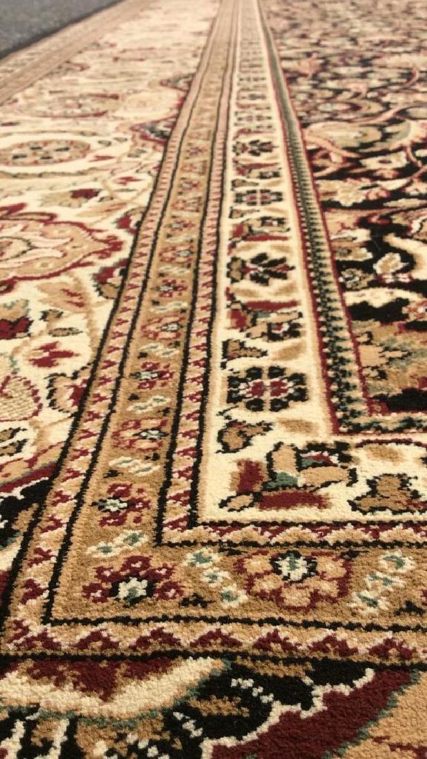 Intricately Detailed Floral Motif Wool Rug - 6