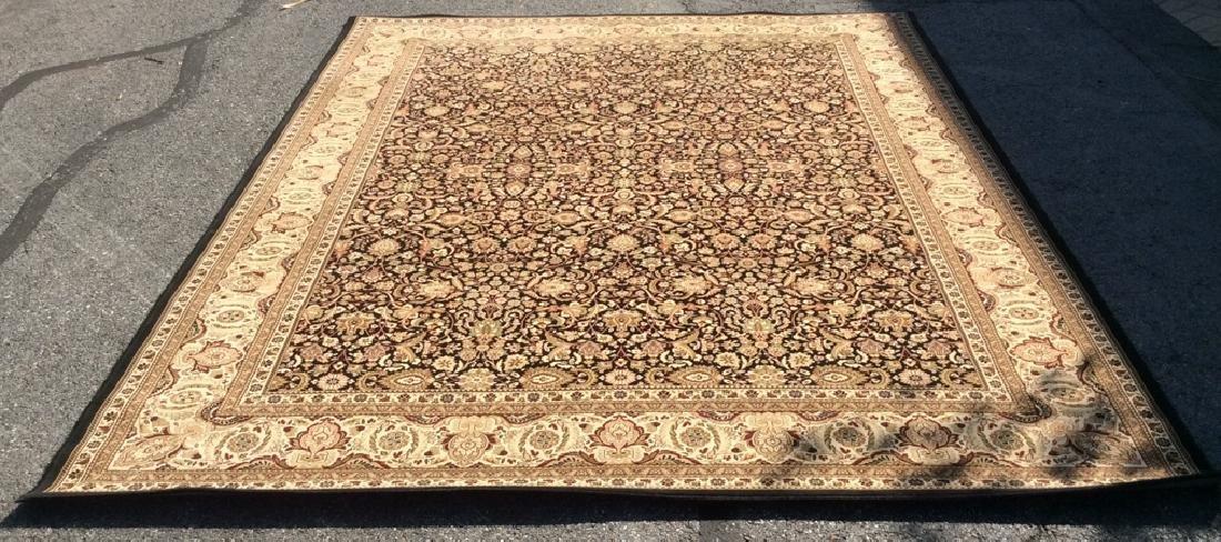 Intricately Detailed Floral Motif Wool Rug - 8