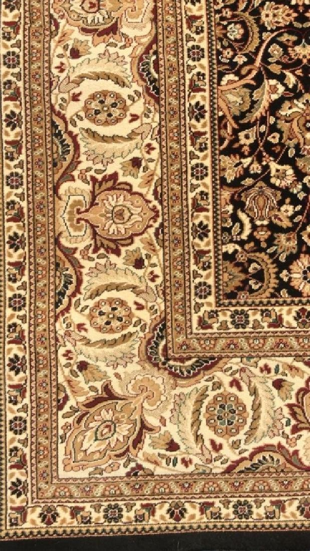 Intricately Detailed Floral Motif Wool Rug - 9