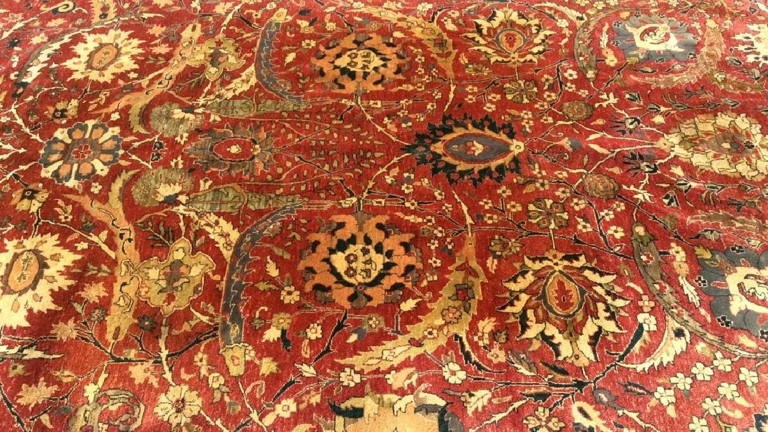 Multi Toned Floral Motif Detailed Wool Rug