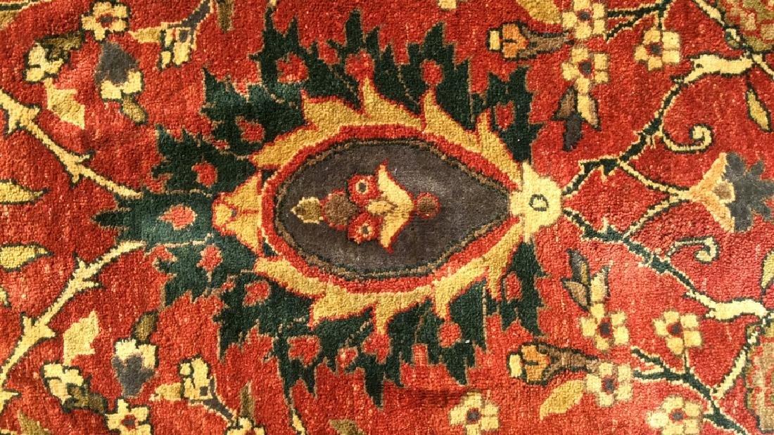 Multi Toned Floral Motif Detailed Wool Rug - 3