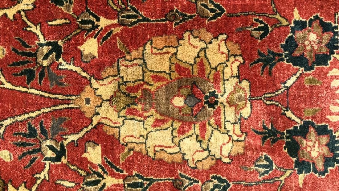 Multi Toned Floral Motif Detailed Wool Rug - 4