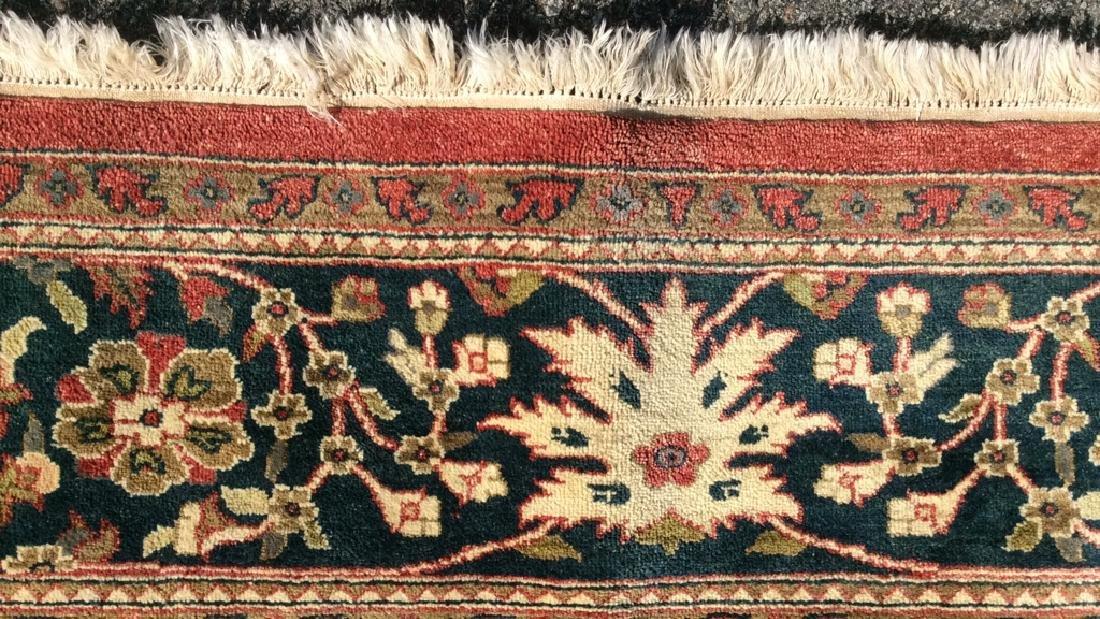 Multi Toned Floral Motif Detailed Wool Rug - 5