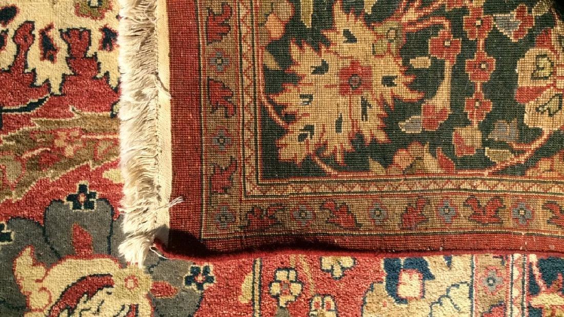 Multi Toned Floral Motif Detailed Wool Rug - 6