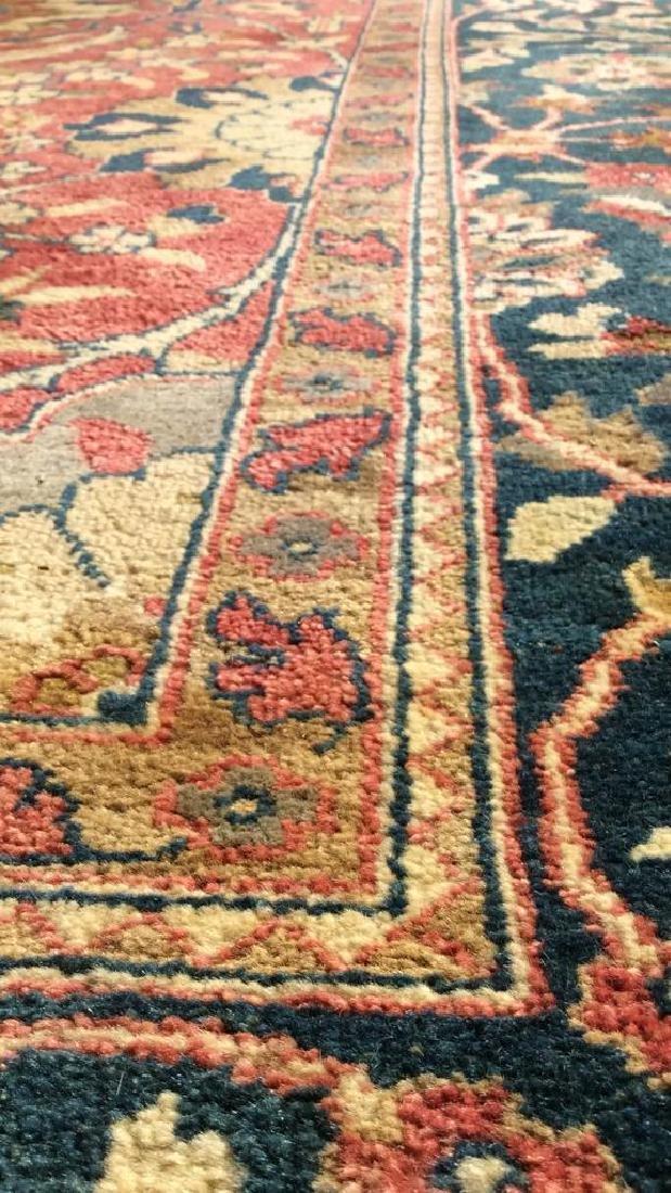 Multi Toned Floral Motif Detailed Wool Rug - 7