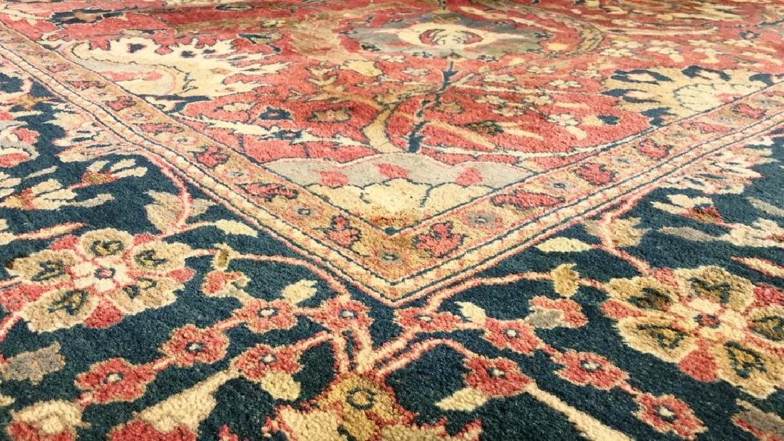 Multi Toned Floral Motif Detailed Wool Rug - 8