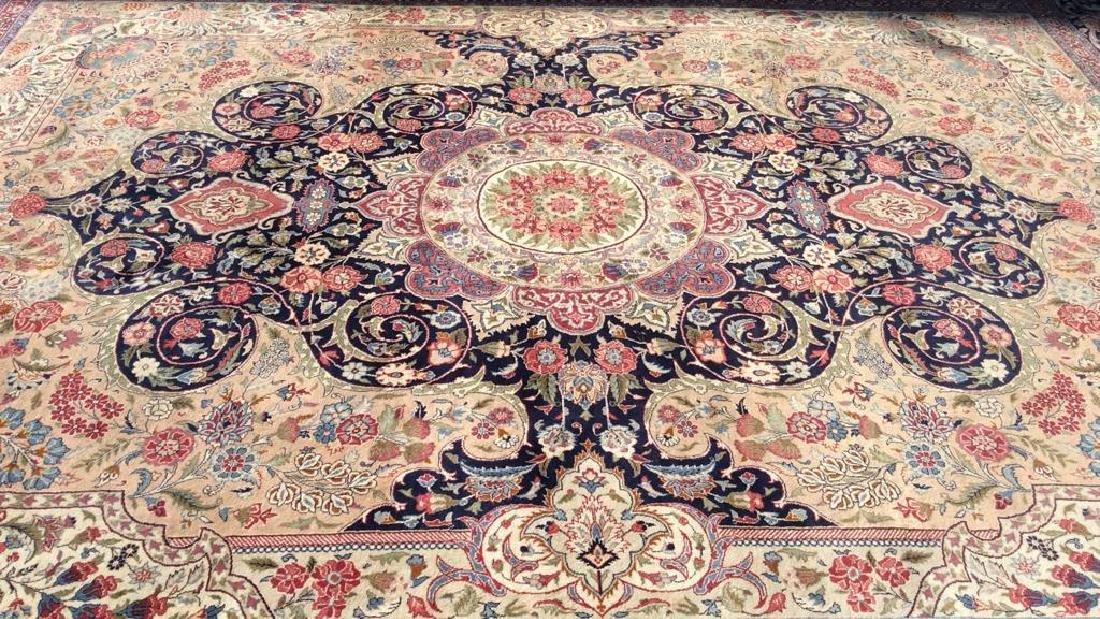 Handmade Intricately Detailed Fringed Wool Rug - 10