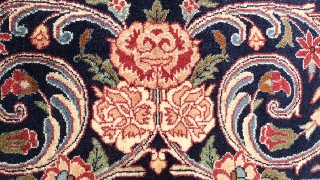 Handmade Intricately Detailed Fringed Wool Rug