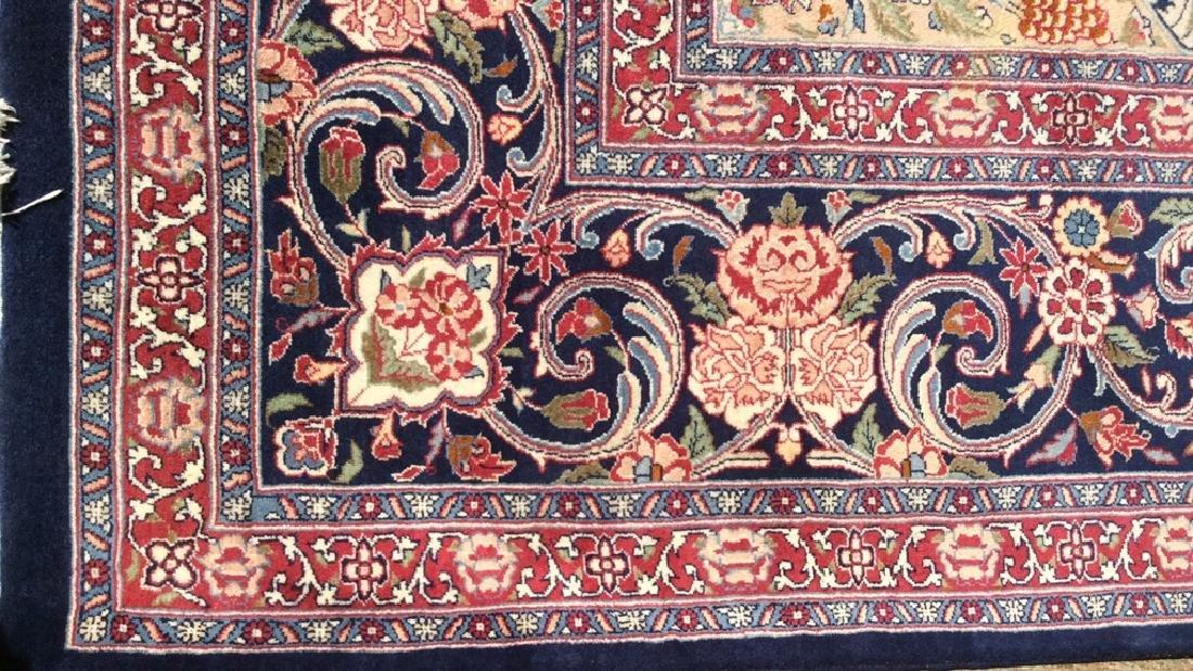 Handmade Intricately Detailed Fringed Wool Rug - 5
