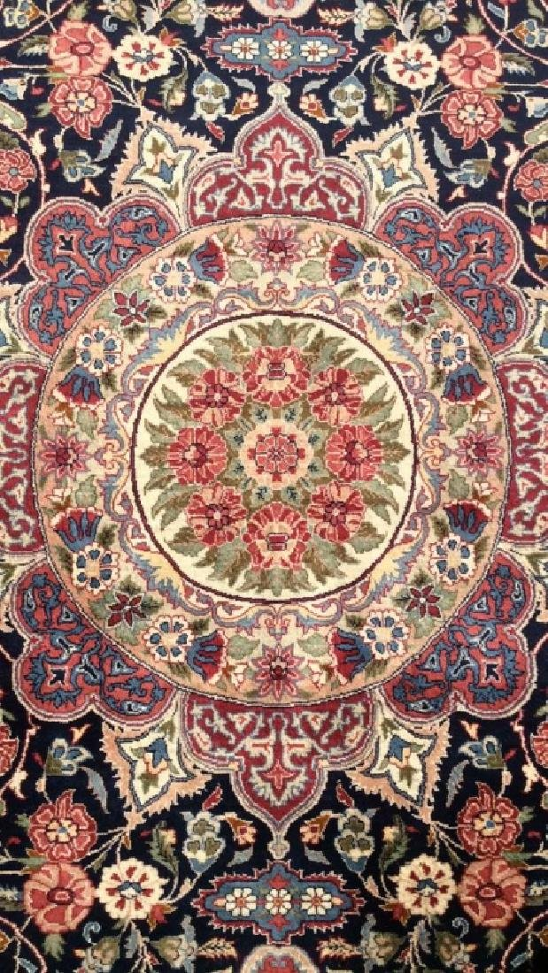 Handmade Intricately Detailed Fringed Wool Rug - 7