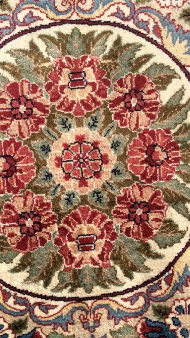 Handmade Intricately Detailed Fringed Wool Rug - 8