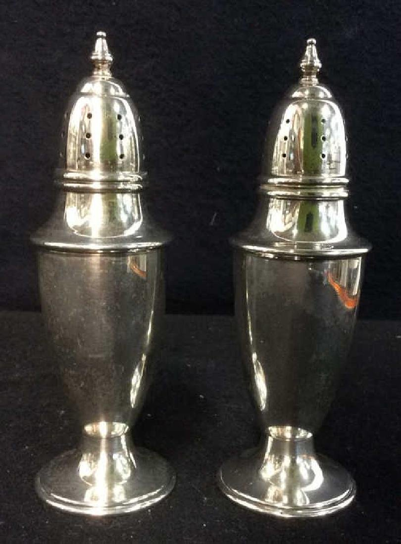Lot 2 STERLING Silver Salt & Pepper Shakers