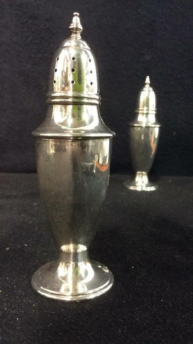 Lot 2 STERLING Silver Salt & Pepper Shakers - 3