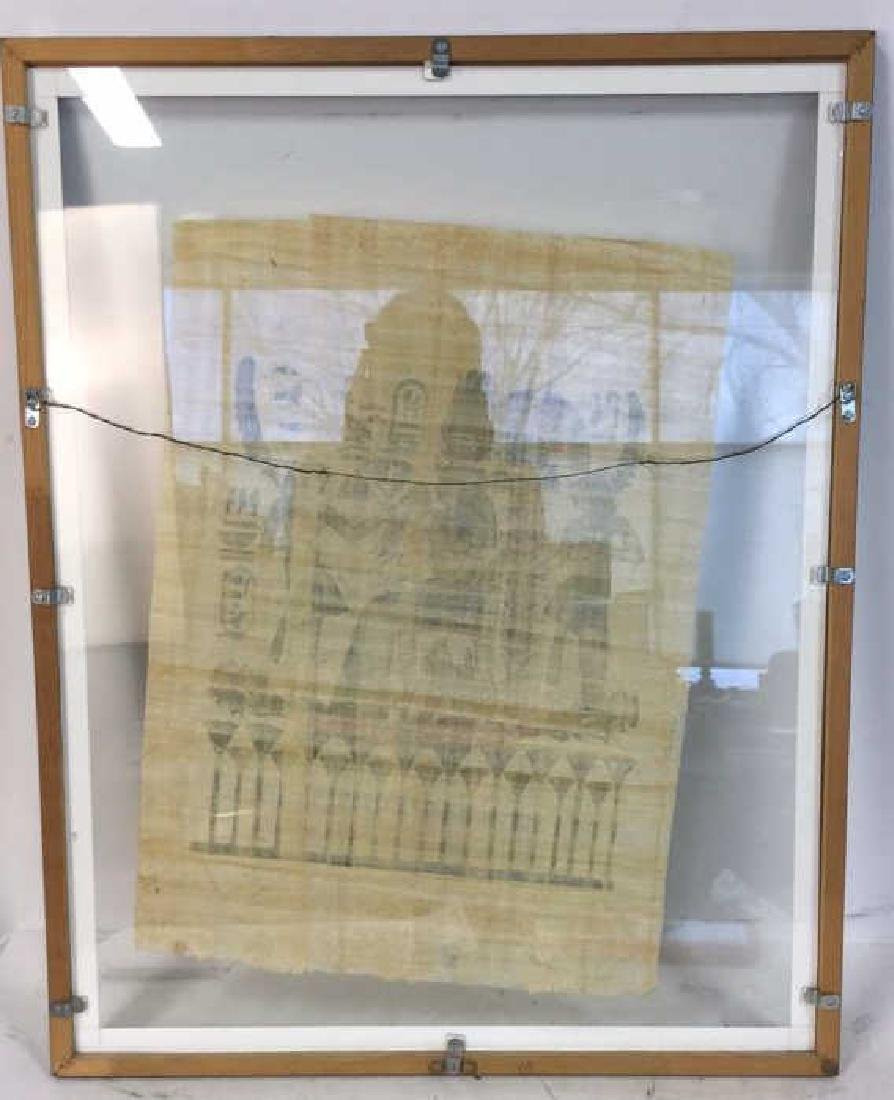 Framed Egyptian Papyrus Painting - 8