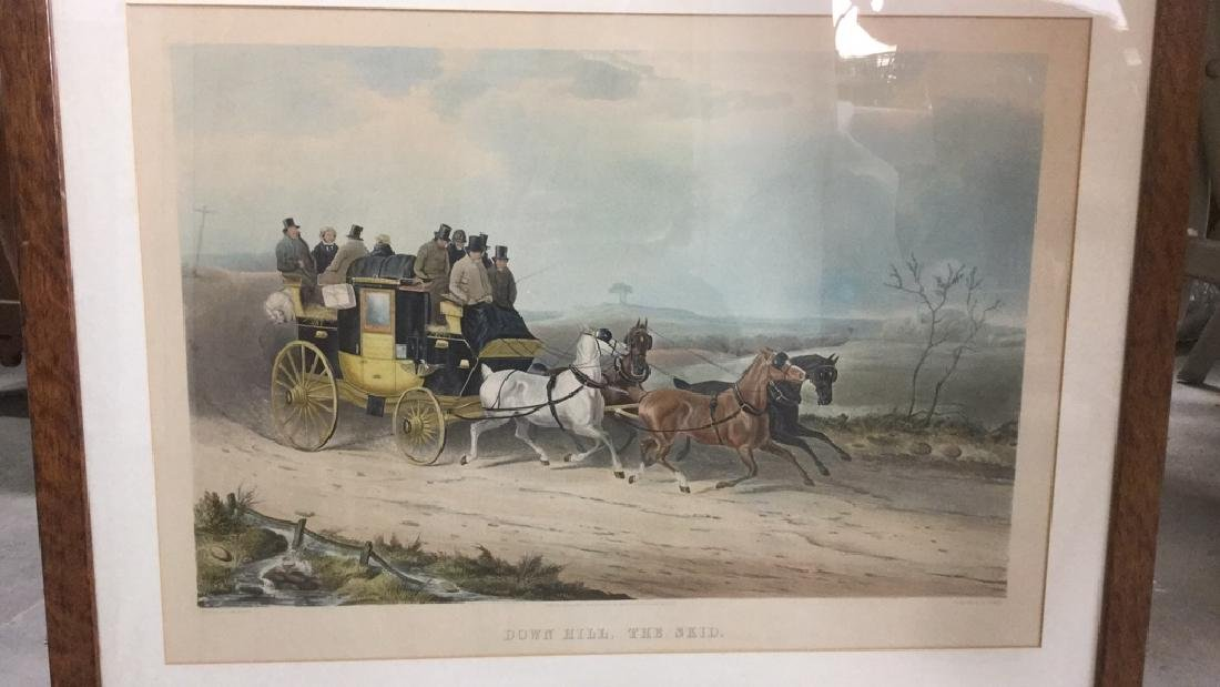 Print Of J. W. Shayer's Down Hill, The Skid - 2