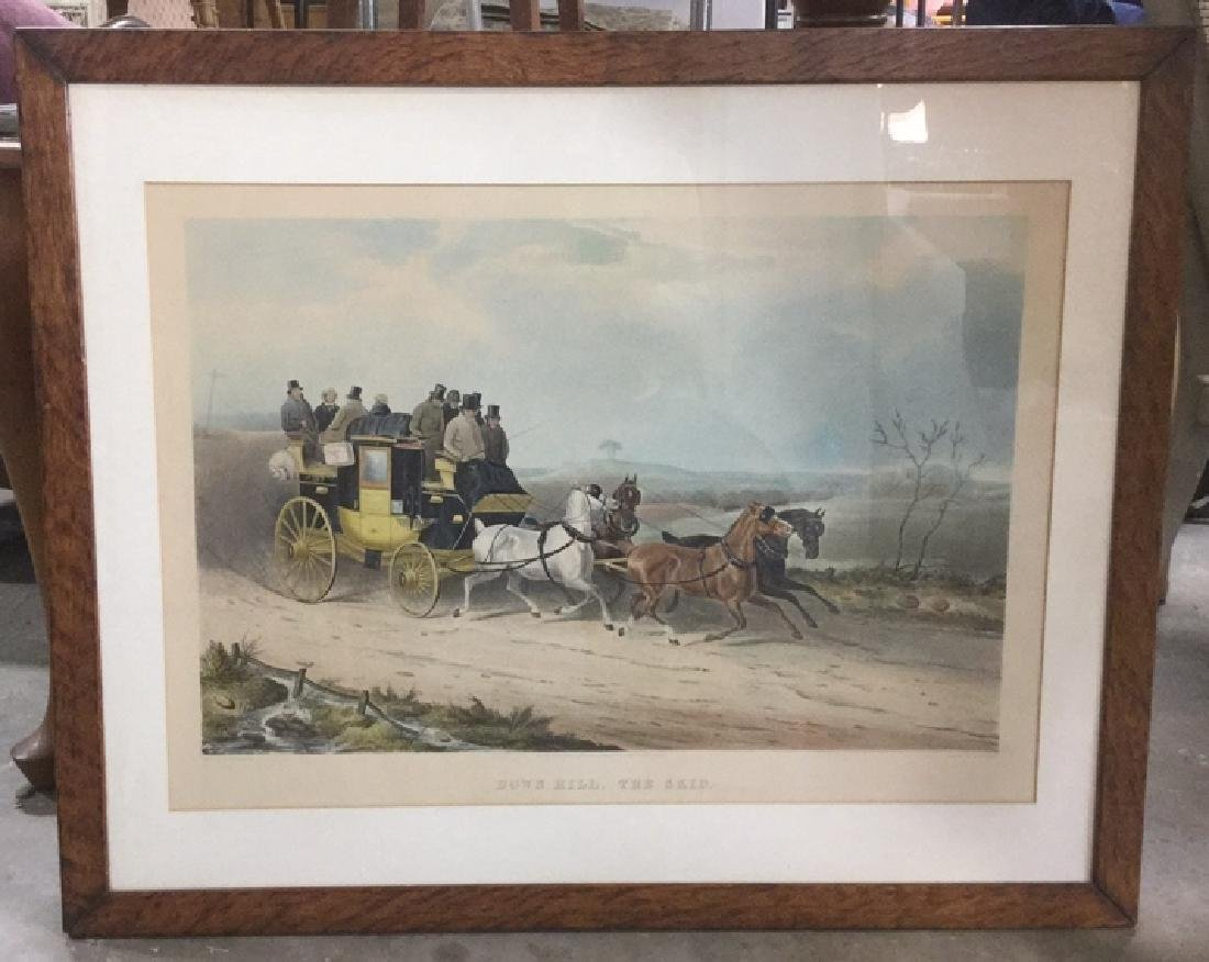Print Of J. W. Shayer's Down Hill, The Skid - 3