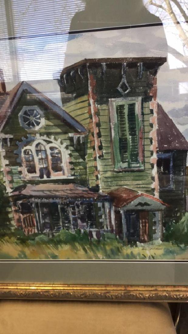 LUIS WOLCHONOK Framed Matted Watercolor - 7