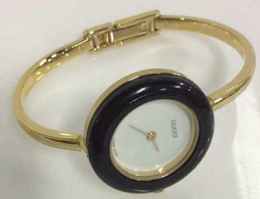 GUCCI Designer Ladies Wristwatch w Box and Bevels - 3