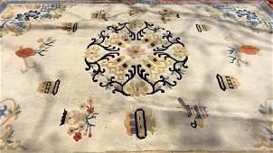 Handmade Fringed Chinese Deco Wool Rug