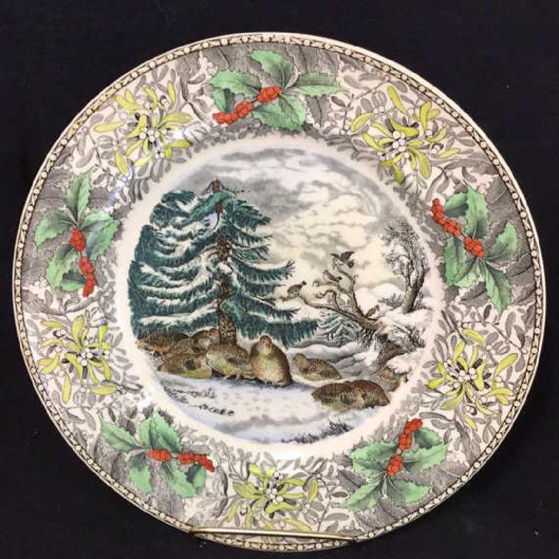 Lot 4 Currier & Ives Winter Scenes Plates - 2