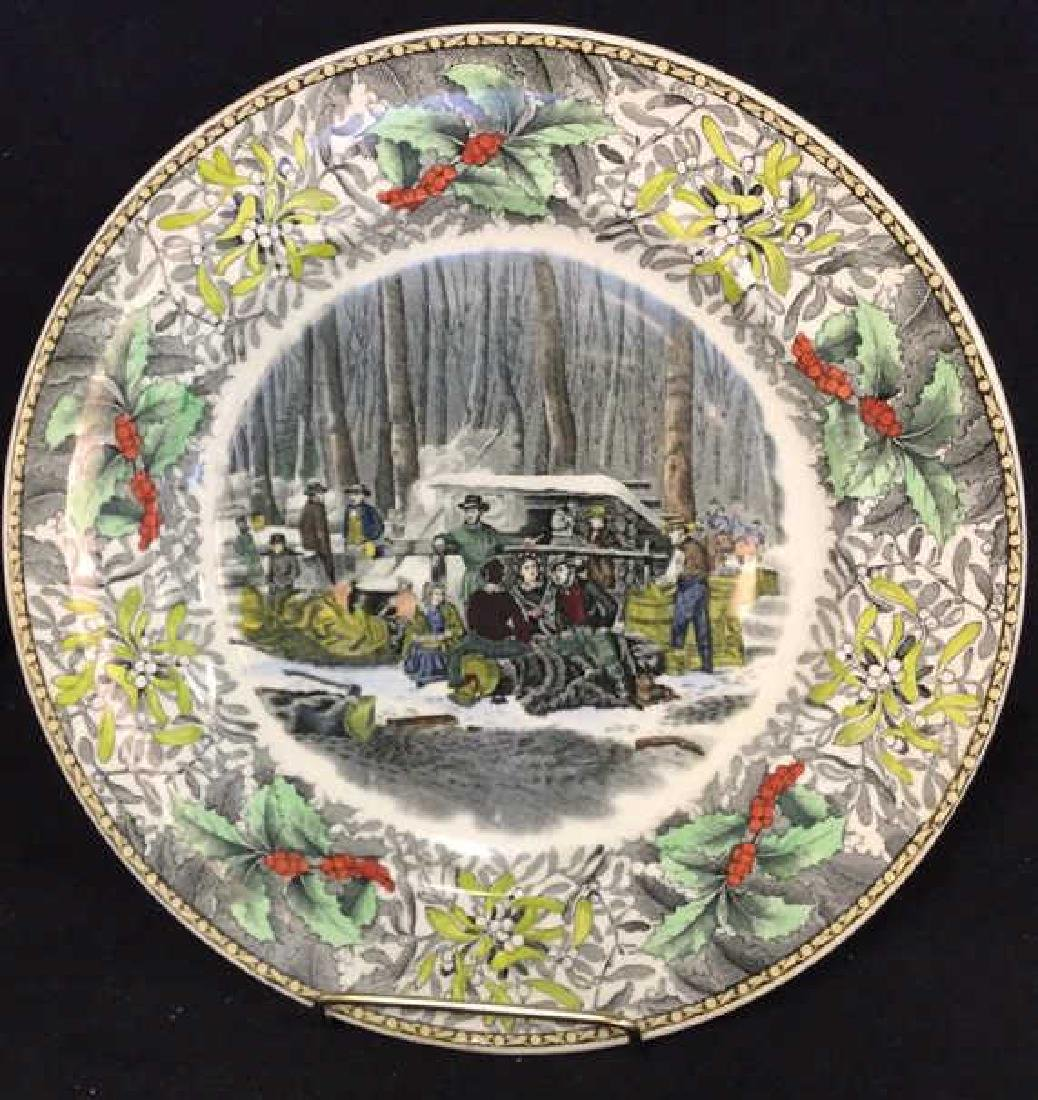 Lot 4 Currier & Ives Winter Scenes Plates - 3