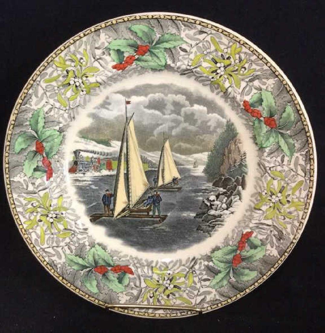 Lot 4 Currier & Ives Winter Scenes Plates - 4