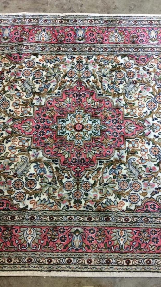 Handmade Intricately Detailed Silk Rug W Fringes - 10