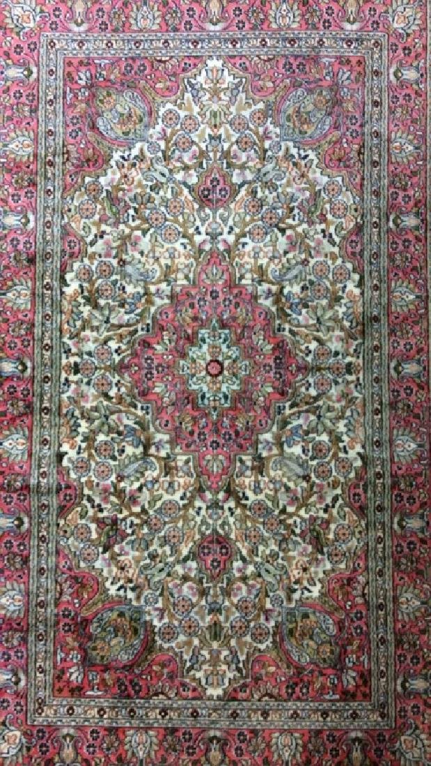 Handmade Intricately Detailed Silk Rug W Fringes